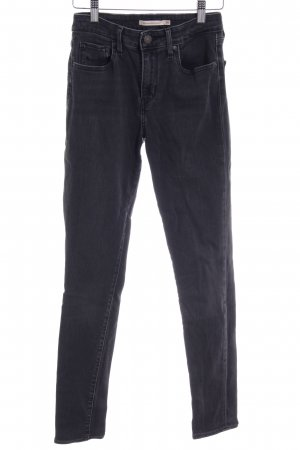 Levi's High Waist Jeans dunkelgrau schlichter Stil