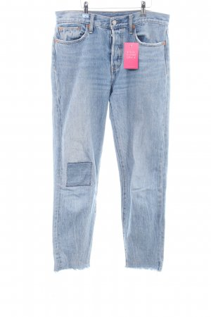 Levi's Hoge taille jeans blauw straat-mode uitstraling