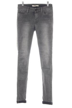Levi's High Waist Jeans grau-hellgrau Farbverlauf Casual-Look