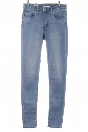 Levi's Hoge taille jeans korenblauw kleurverloop casual uitstraling