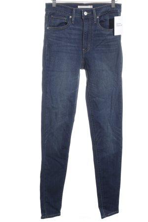 """Levi's Jeans a vita alta """"Mile High Super Skinny"""" blu acciaio"""