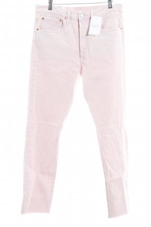 Levi's Hoge taille jeans roze casual uitstraling
