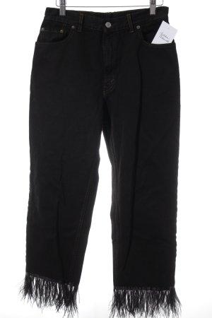 Levi's High Waist Jeans schwarz extravaganter Stil