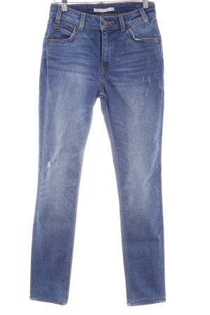 Levi's High Waist Jeans stahlblau Casual-Look