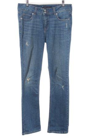 Levi's High Waist Jeans stahlblau Jeans-Optik