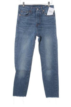 Levi's High Waist Jeans stahlblau Street-Fashion-Look