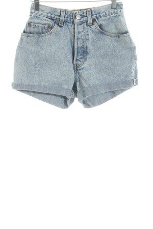 Levi's Short taille haute bleu acier-blanc cassé style décontracté