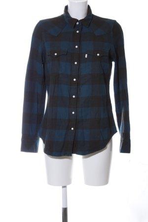 Levi's Chemise de bûcheron bleu-noir motif à carreaux style décontracté