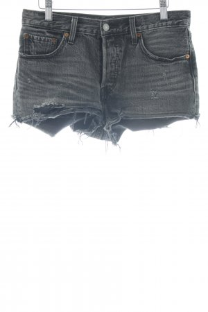 Levi's Hot Pants anthrazit-weiß Casual-Look
