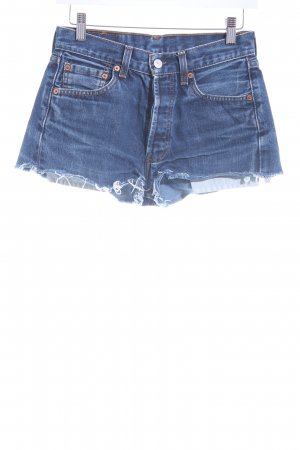 Levi's Hot Pants blau Used-Optik