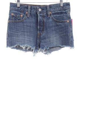 Levi's Hot Pants dunkelblau Casual-Look