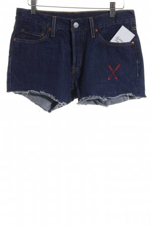 Levi's Hot Pants dunkelblau Street-Fashion-Look