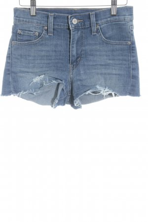 Levi's Hot Pants kornblumenblau Casual-Look