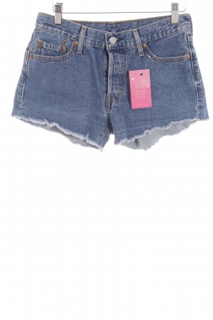 Levi's Hot Pants stahlblau-weiß Casual-Look