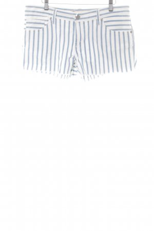 Levi's Hot pants wolwit-azuur gestreept patroon straat-mode uitstraling
