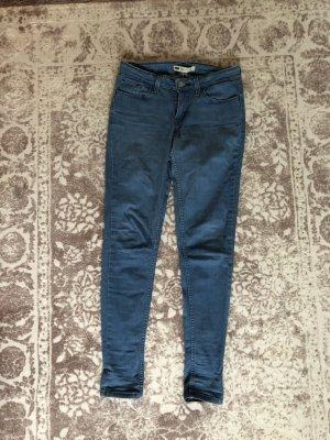 Levi's Jeans 28/30 Größe 36 blau röhrenjeans eng skinny
