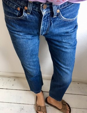 Levi's Hoge taille jeans donkerblauw-blauw