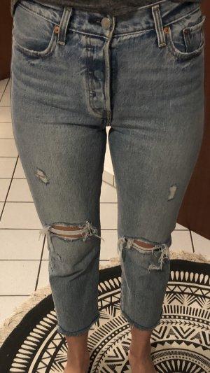 Levi's Jeans taille haute bleu clair