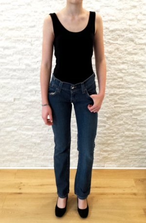 Levi's Boot Cut Jeans steel blue-dark blue cotton