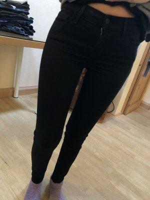 Levi's Jeans 710 super skinny schwarz W 25 L 30