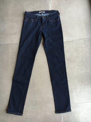 Levi's Jeans 711 skinny dunkel blau gr 28