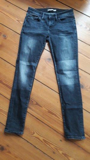 Levi`s Jeans 711 skinny, mid waist, schwarz-grau