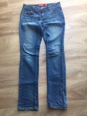 Levi's Jeans met rechte pijpen donkerblauw-blauw
