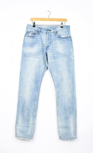 Levi's Hoge taille jeans azuur Katoen