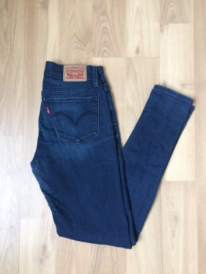 Levi's Jeans Hose Denim Blau 710 Super Skinny Röhre 24 XS 34