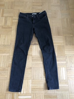 Levi's Wortel jeans donkergrijs
