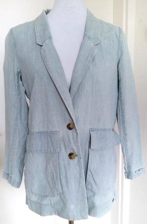 Levi's Jeansblazer, hellblau mit weißer Waschung