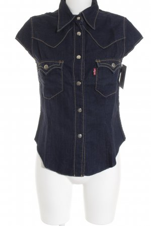 Levi's Jeansbluse dunkelblau Street-Fashion-Look