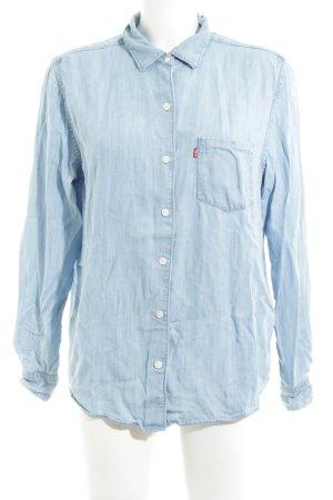 Levi's Jeansbluse blau Casual-Look