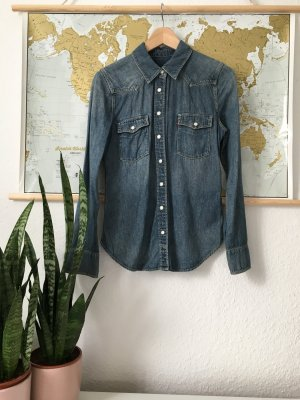 Levi's Jeansbluse mit Perlmutt-Druckknöpfen