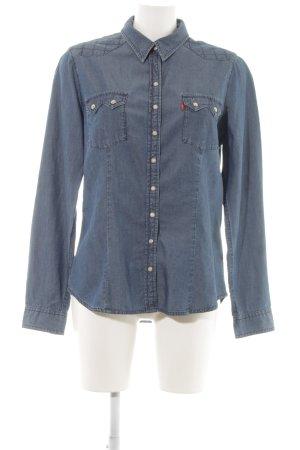 Levi's Camicia denim blu neon stile casual