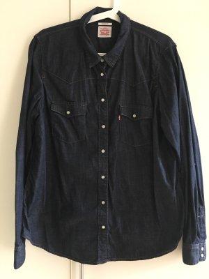 Levi's Camisa vaquera azul oscuro