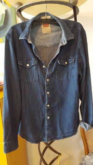 Levi's Jeans blouse blauw-donkerblauw Katoen