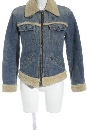 Levi's Jeansjacke blau-beige Jeans-Optik