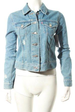 Levi's Jeansjacke blau Street-Fashion-Look