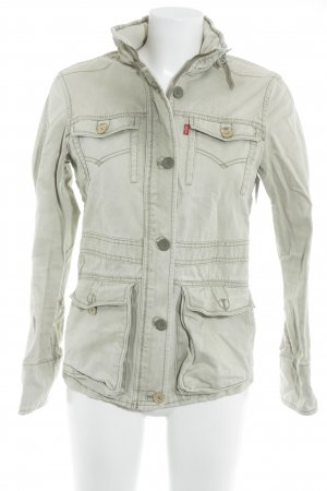 Levi's Jeansjacke graugrün florales Muster Casual-Look