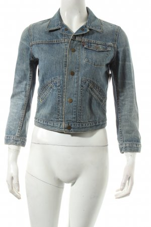 Levi's Jeansjacke kornblumenblau-wollweiß Urban-Look