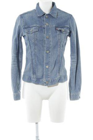 Levi's Jeansjacke kornblumenblau-wollweiß Washed-Optik