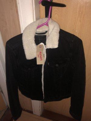 Levi's Fur Jacket black-white