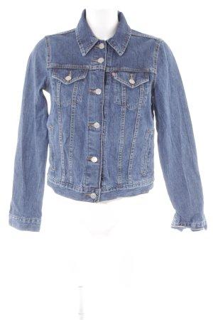 Levi's Jeansjacke stahlblau Jeans-Optik