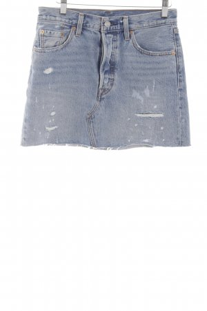 Levi's Jeansrock blau Used-Optik