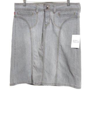 Levi's Jeansrock hellgrau-sandbraun Jeans-Optik
