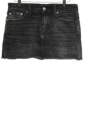 Levi's Jupe en jeans noir moucheté style décontracté