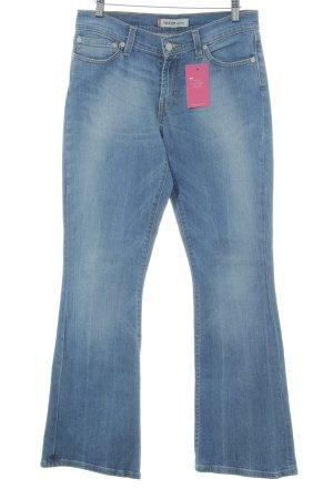 Levi's Jeans a zampa d'elefante blu fiordaliso-azzurro stile jeans