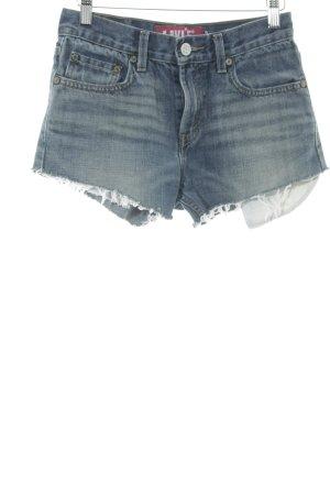 Levi's Jeansshorts blau Destroy-Optik