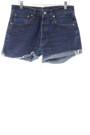 Levi's Jeansshorts dunkelblau-blau Used-Optik